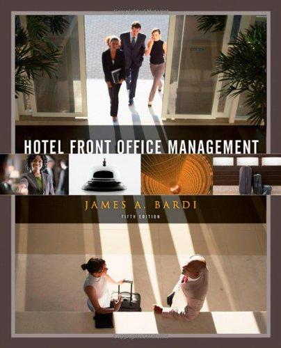 Hotel Front Office Management  5th 2011 edition cover