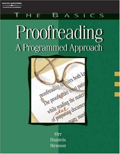 Proofreading A Programmed Approach 4th 2003 (Revised) 9780538724524 Front Cover