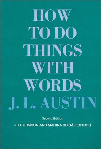 How to Do Things with Words  2nd 1975 edition cover