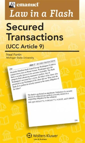 Emanuel Law in a Flash Secured Transactions  2011 (Student Manual, Study Guide, etc.) edition cover