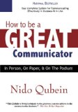 HOW TO BE A GREAT COMMUNICATOR N/A edition cover