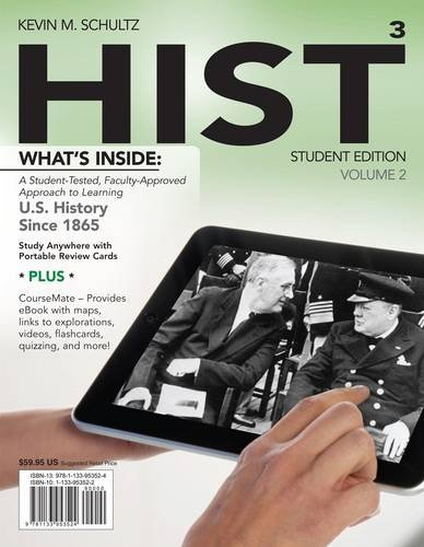 Hist + History Coursemate With Ebook Printed Access Card: Us History Since 1865  2013 9781133953524 Front Cover