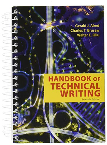 Handbook of Technical Writing  12th 2019 9781319058524 Front Cover