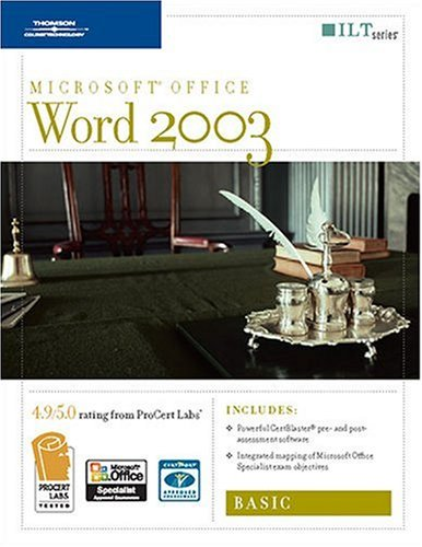 Word 2003:  Basic: Student Manual 2nd 2007 edition cover