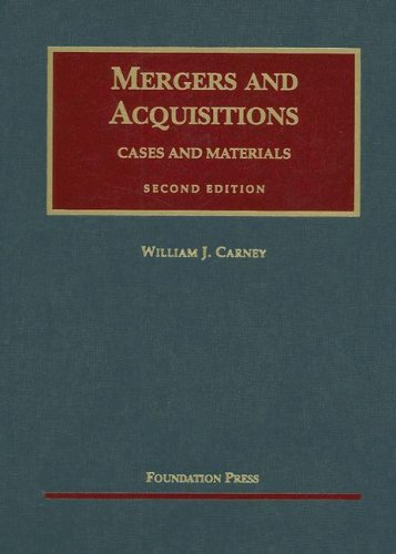 Mergers and Acquisitions Cases and Materials 2nd 2007 (Revised) edition cover