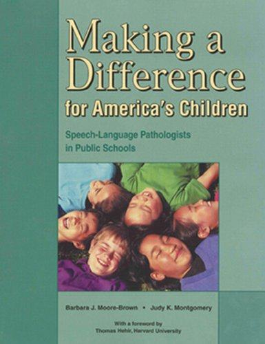 Making a Difference for America's Children Speech Language Pathologists in Public Schools  2001 edition cover