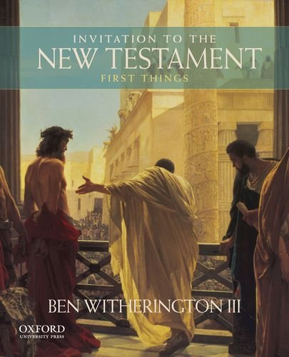 Invitation to the New Testament First Things  2013 edition cover