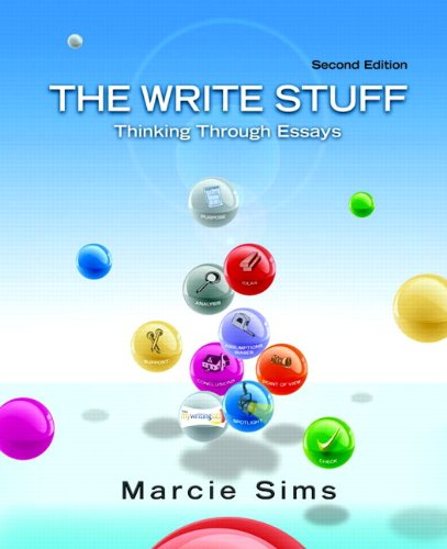 Write Stuff Thinking Through Essays 2nd 2012 edition cover