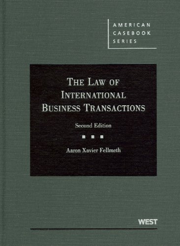 Law of International Business Transactions  2nd 2011 (Revised) edition cover