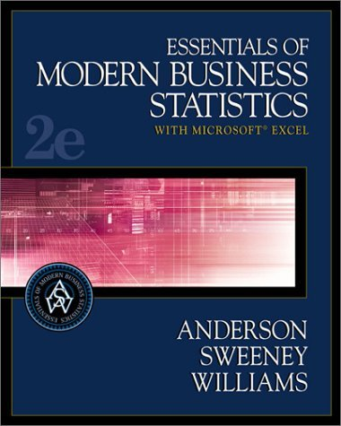 Essentials of Modern Business Statistics with Microsoft Excel  2nd 2004 edition cover
