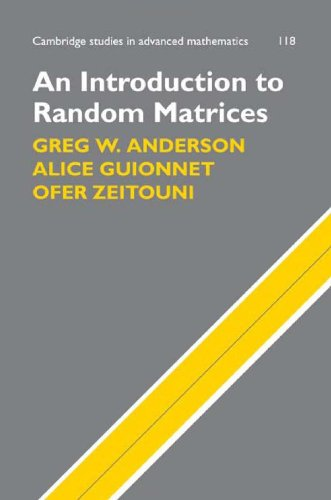 Introduction to Random Matrices   2009 edition cover