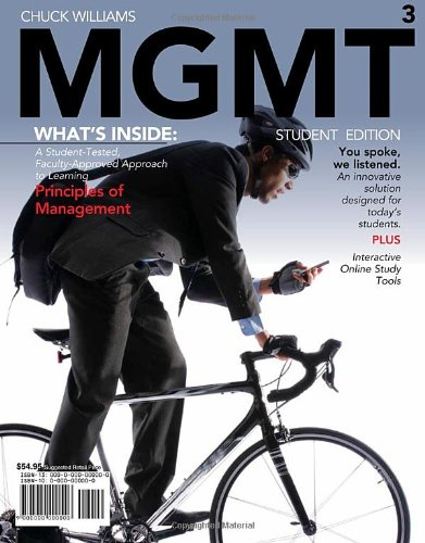MGMT 2010  3rd 2011 (Student Manual, Study Guide, etc.) edition cover
