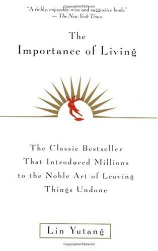 Importance of Living   1998 (Reprint) 9780688163525 Front Cover
