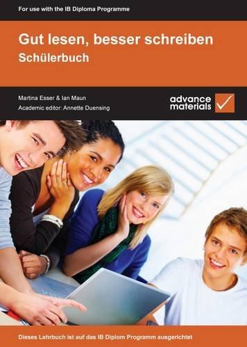 Gut Lesen, Besser Schreiben, Schulerbuch   2009 (Student Manual, Study Guide, etc.) 9780955926525 Front Cover