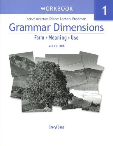 Grammar Dimensions Bk 1 4e-Workbook  4th 2007 edition cover