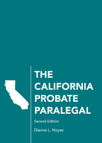 California Probate Paralegal  2nd edition cover