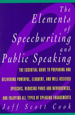Elements of Speechwriting and Public Speaking   1989 edition cover