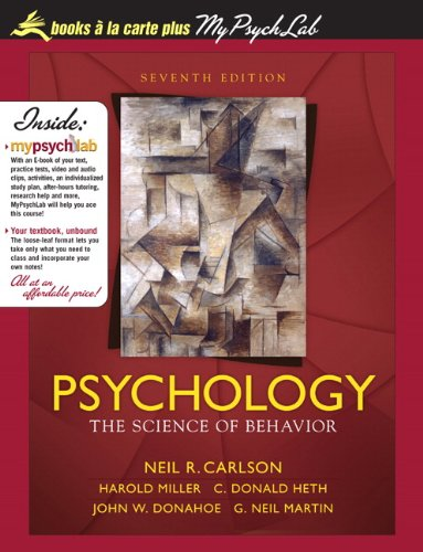 PSYCHOLOGY:SCI.OF BEHAVIOR (LO N/A 9780205741526 Front Cover