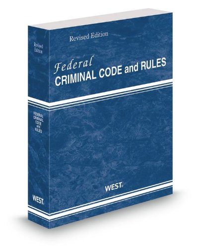 FEDERAL CRIMINAL CODE+RULES,20 N/A edition cover