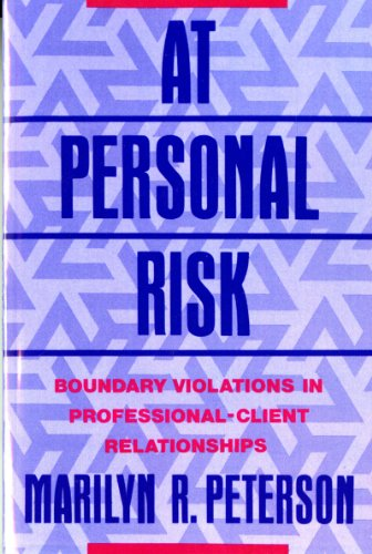 At Personal Risk Boundary Violations in Professional-Client Relationships  2015 edition cover