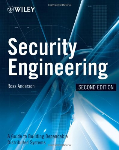 Security Engineering A Guide to Building Dependable Distributed Systems 2nd 2008 edition cover