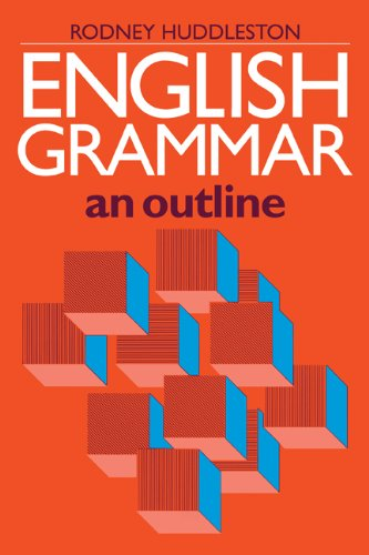English Grammar An Outline  1988 9780521311526 Front Cover