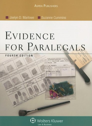 Evidence for Paralegals  4th 2008 (Revised) edition cover