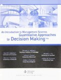 Introduction to Management Science Quantitative Approaches to Decision Making 14th 2016 9781305631526 Front Cover