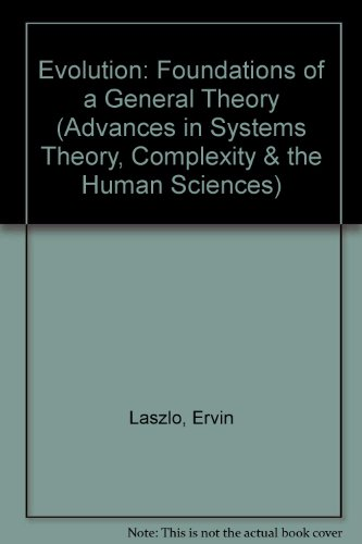 Evolution Foundations of a General Theory 2nd 9781572730526 Front Cover
