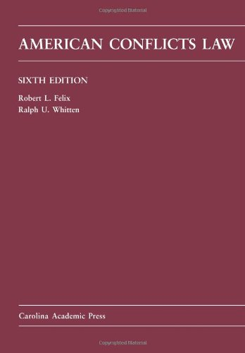 American Conflicts Law  6th 2011 edition cover