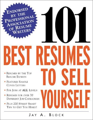 101 Best Resumes to Sell Yourself   2002 edition cover