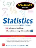 Schaum's Outline of Statistics  5th 2014 edition cover