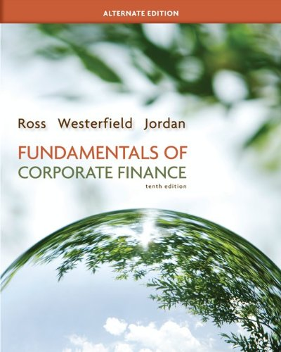 Loose-Leaf Fundamentals of Corporate Finance Alternate Edition  10th 2013 9780077479527 Front Cover