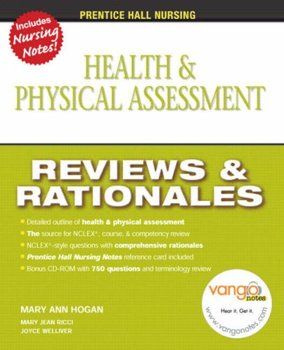 Health and Physical Assessment Reviews and Rationales  2011 edition cover