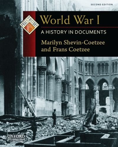 World War I A History in Documents 2nd 2010 edition cover