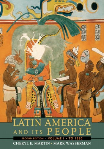 Latin America and Its People to 1830  2nd 2008 edition cover