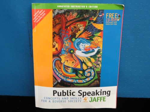 PUBLIC SPEAKING-W/CD >ANNOT.IN 4th 2004 9780534606527 Front Cover
