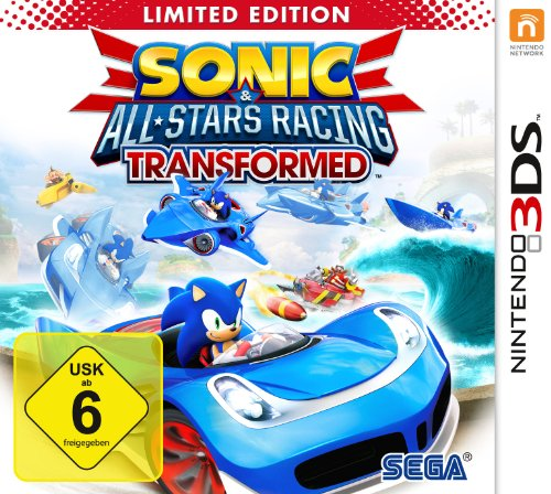 SONIC All-Stars Racing Transformed Nintendo 3DS artwork