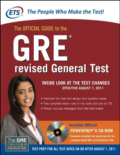 Official Guide to the GRE   2010 edition cover