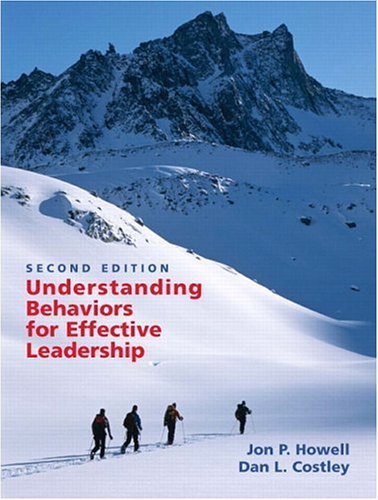 Understanding Behaviors for Effective Leadership  2nd 2006 edition cover