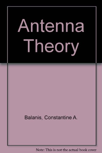 Antenna Theory Analysis and Design 1st 1982 9780471603528 Front Cover