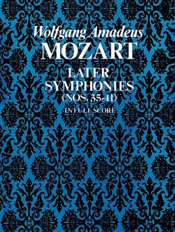 Later Symphonies Nos. 35-41 in Full Score N/A edition cover