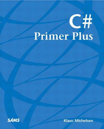 C# Primer Plus   2002 edition cover