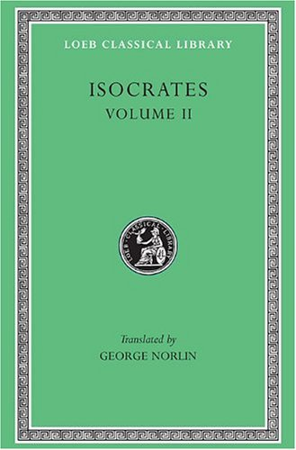 Isocrates   1929 9780674992528 Front Cover