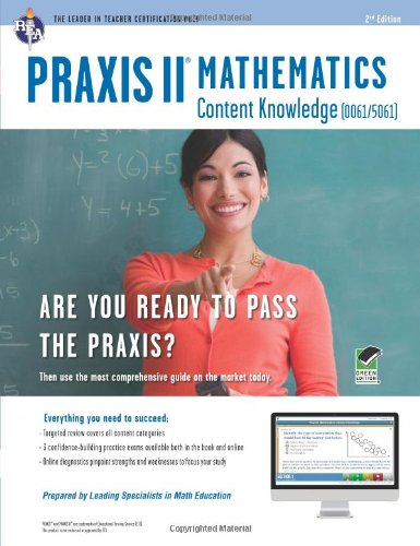 Praxis II Math Content Knowledge / Online Practice Tests:   2012 edition cover