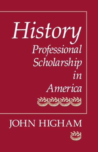 History Professional Scholarship in America Reprint  edition cover