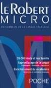 Robert Micro : Dictionnaire D'Apprentissage de la Langue Francaise 1st edition cover