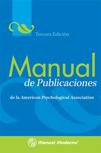 Manual de Publicaciones de la American Psychological Association 3rd 2010 (Revised) edition cover