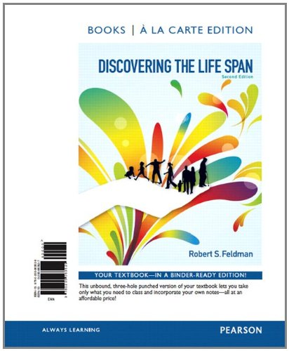 Discovering the Life Span, Books a la Carte Edition  2nd 2012 edition cover