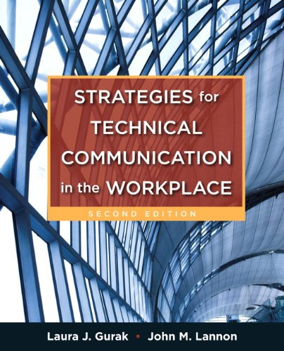 Strategies for Technical Communication in the Workplace  2nd 2013 (Revised) edition cover